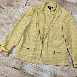 ♥️2/$30 Yellow Plaid Clueless Style Blazer